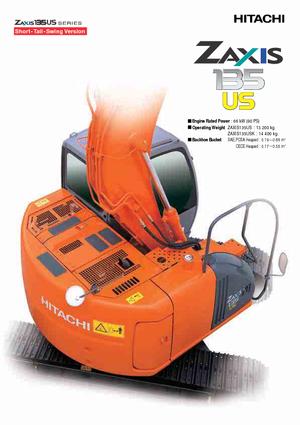 Koparki gąsienicowe Hitachi ZX 135 US