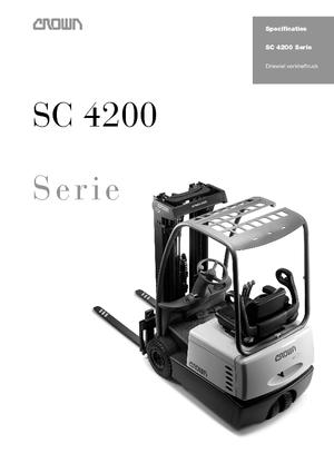 Wózki widłowe elektryczne Crown SC 4240 1,6