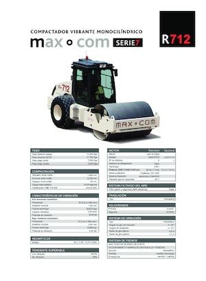 Pojedyncze walce drogowe Max-Com R 712
