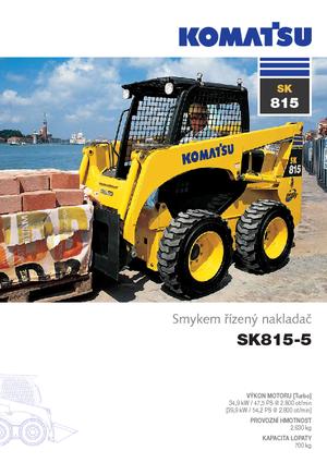 Ładowarki o sterowaniu burtowym Komatsu SK815-5