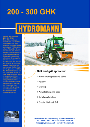 Dołączane rozsiewacze Hydromann 200 H