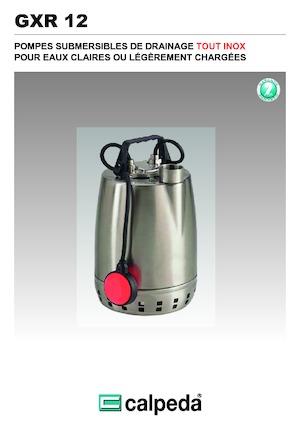 Zatapialne pompy ściekowe Calpeda GXR 12-16