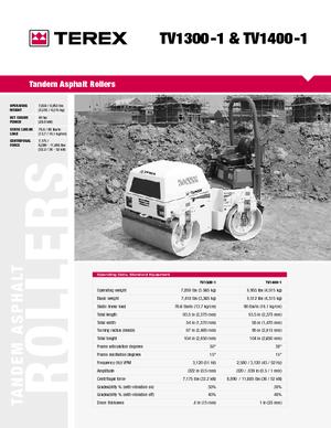 Walce wibracyjne tandemowe Terex TV 1400-1