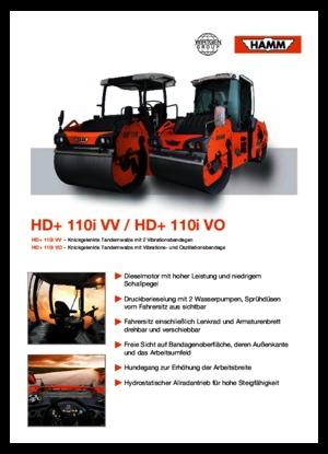 Walce wibracyjne tandemowe Hamm HD+ 110i VO