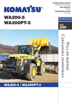 Ładowarki kołowe Komatsu WA200-5